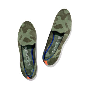 Rothy's Olive Green Camo Loafer Shoes (7.5)