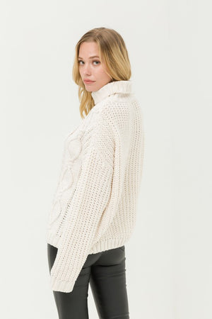 Ivory Cozy Knit Pullover