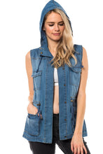 Soft Denim Tencel Vest