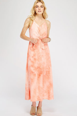 Peach Grove Maxi Dress
