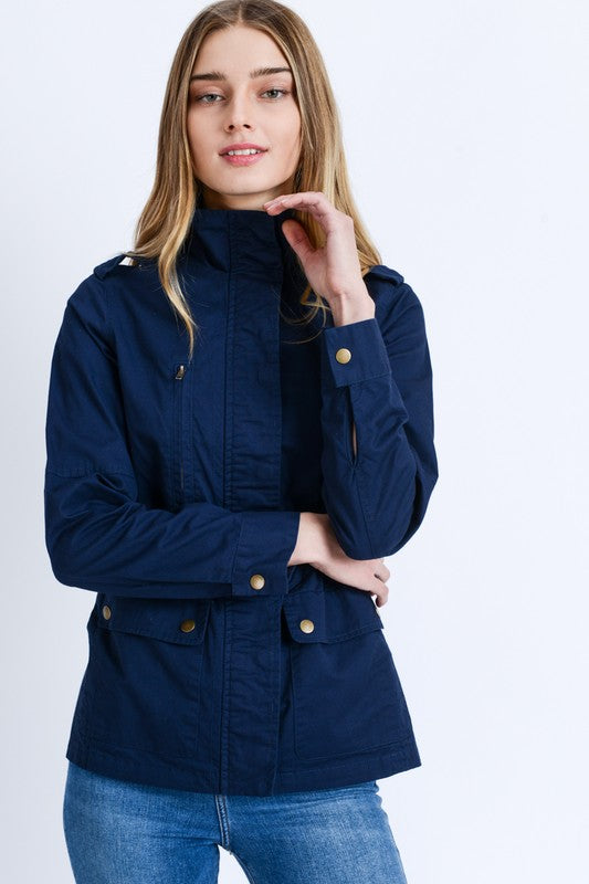 Fall Favorite Utility Cargo Jacket