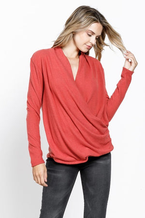 Paprika Cozy Wrap Pullover