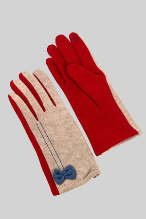 Bow Accent Touch Gloves