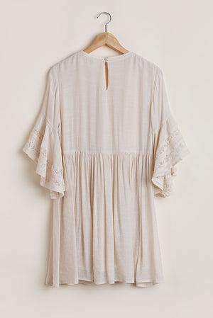 Woodland Lace Trim Dress in Cream