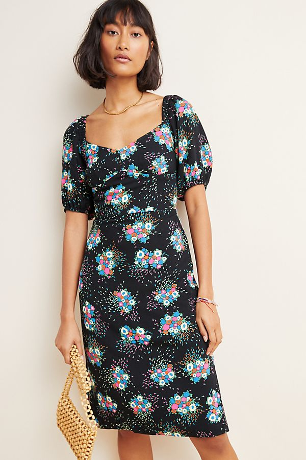 Anthropologie Tabia Black Motif Dress (2)