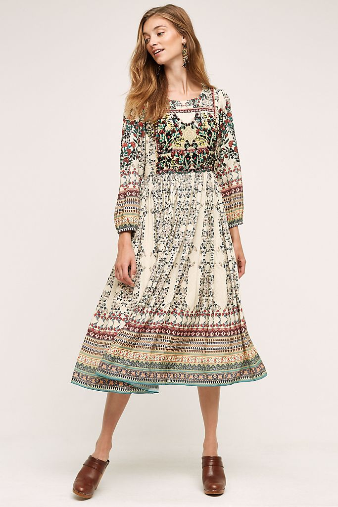 Anthropologie Bhanuni Far Fields Midi Dress (2)
