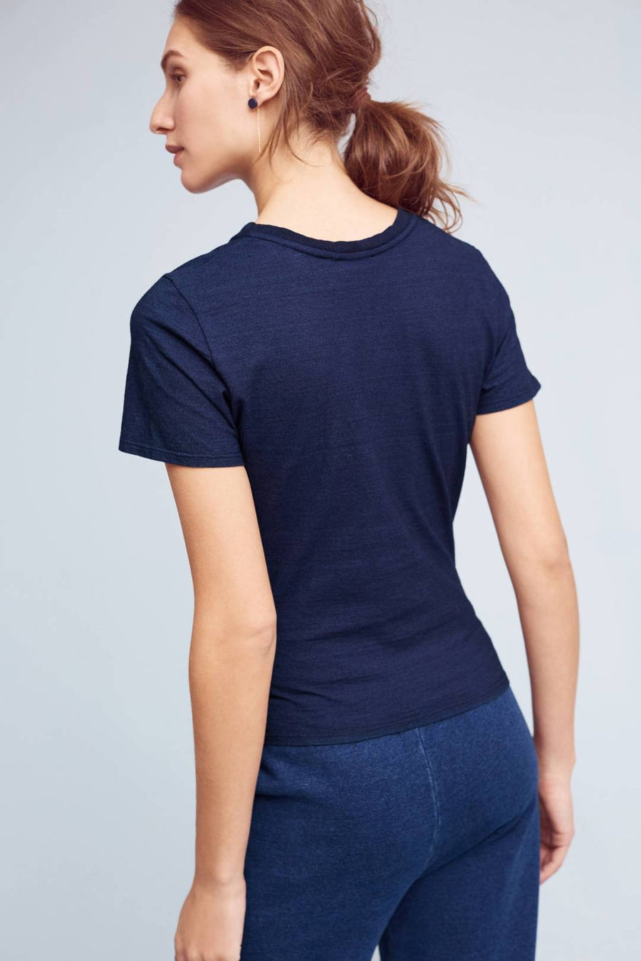 Anthropologie AG Navy Twisted Knit Top (S)