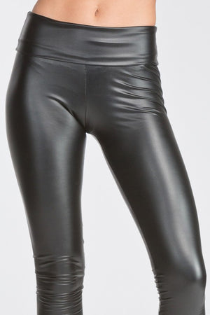 Faux Leather High Waist Leggings