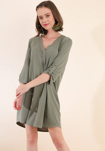 Chic Olive Cupro Dress
