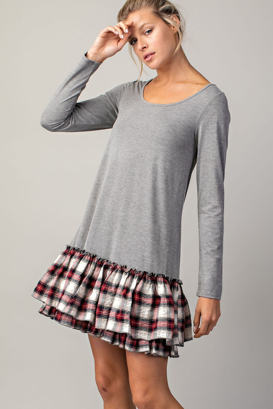 Grey & Plaid Hem Extender