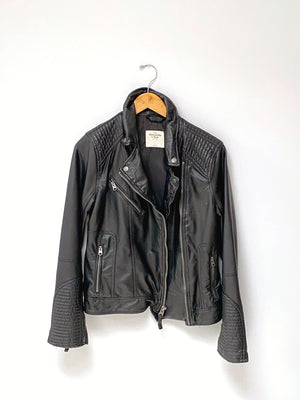 Abercrombie & Fitch Faux Leather Moto Jacket (L)