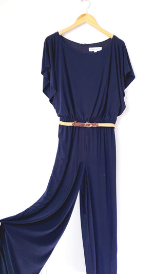 Emma + Michele Navy Jumpsuit (L)