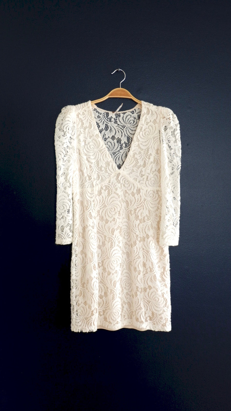 Free People White Lace Dress (S)