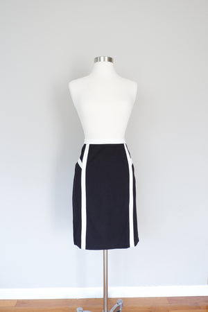 Carmen by Carmen Marc Valvo Black & White Pencil Skirt (6)