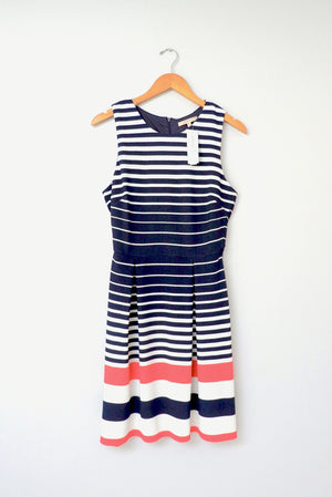 NEW Stitch Fix 'Sara' Navy & Coral Knit Dress (M)