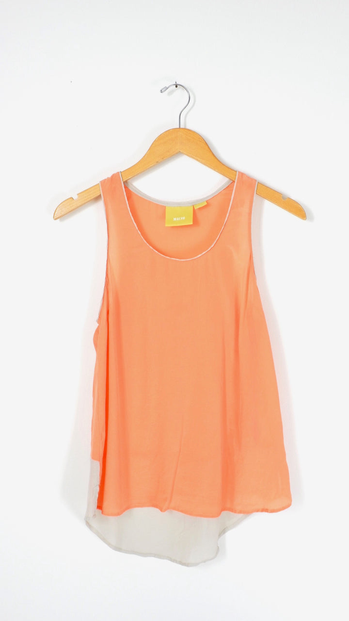 Anthropologie Maeve Melon Silk Top (4)