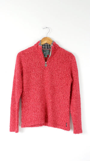Woolrich Ruby Red 1/4 Zip Knit Pullover (S)