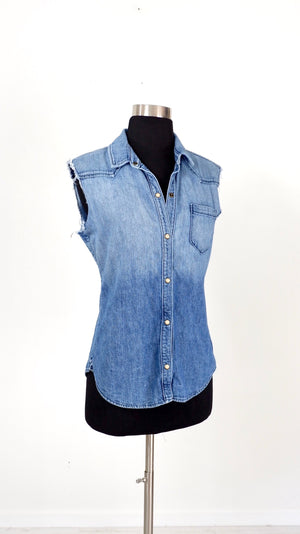 Textile by Elizabeth & James Denim Button Down (S/M)
