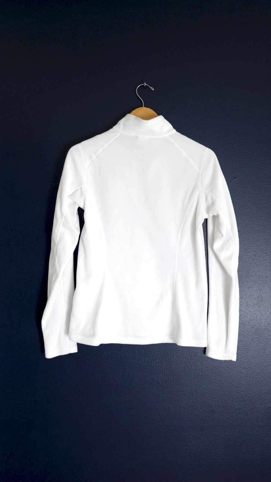 The North Face White Fleece Quarter Zip Jacket (S)