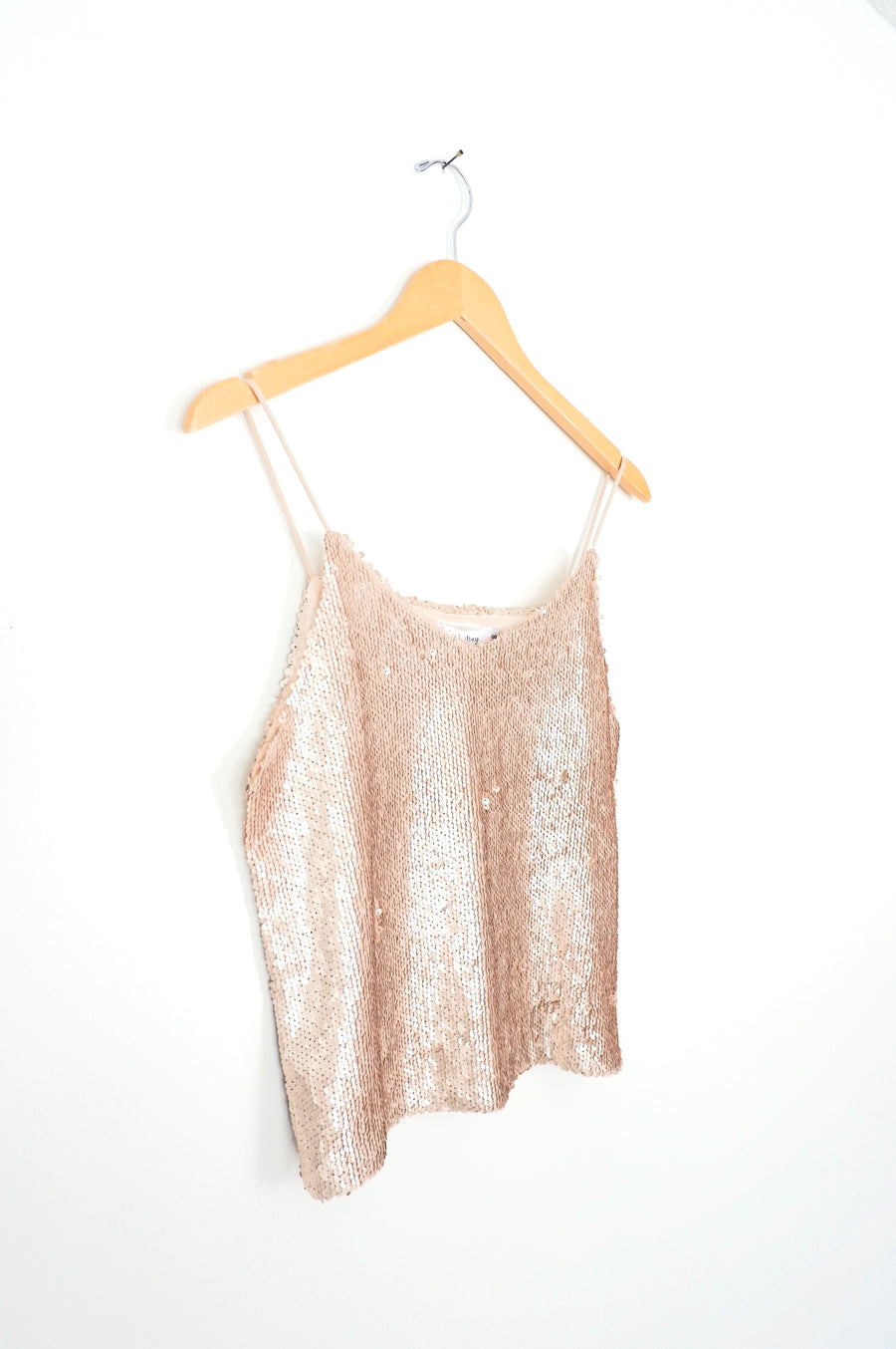 Champagne Gold Sequin Camisole Tank