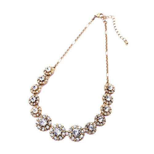 Round Crystal Statement Necklace