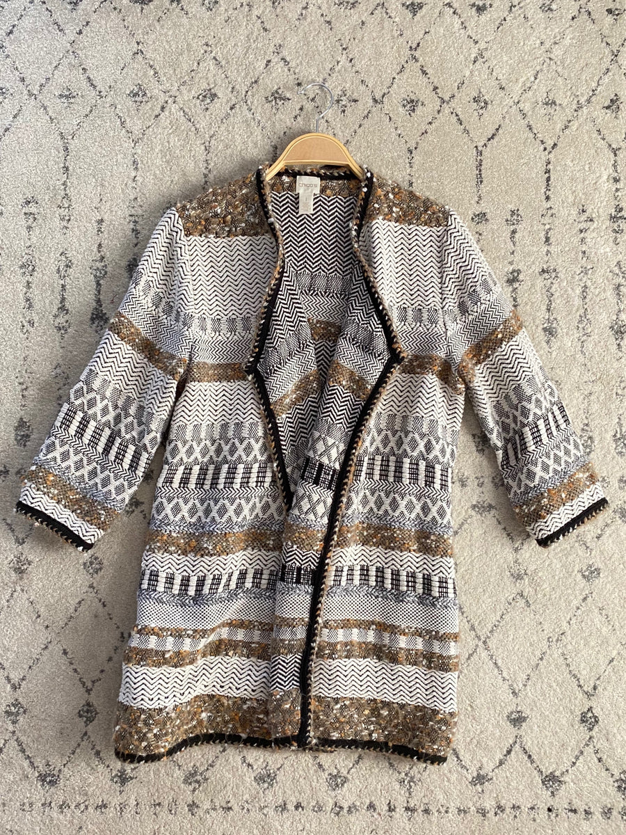 Chico's Multi Knit Pocket Cardigan (1 or M/L)