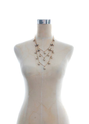 Rosebud Pearl Layer Necklace