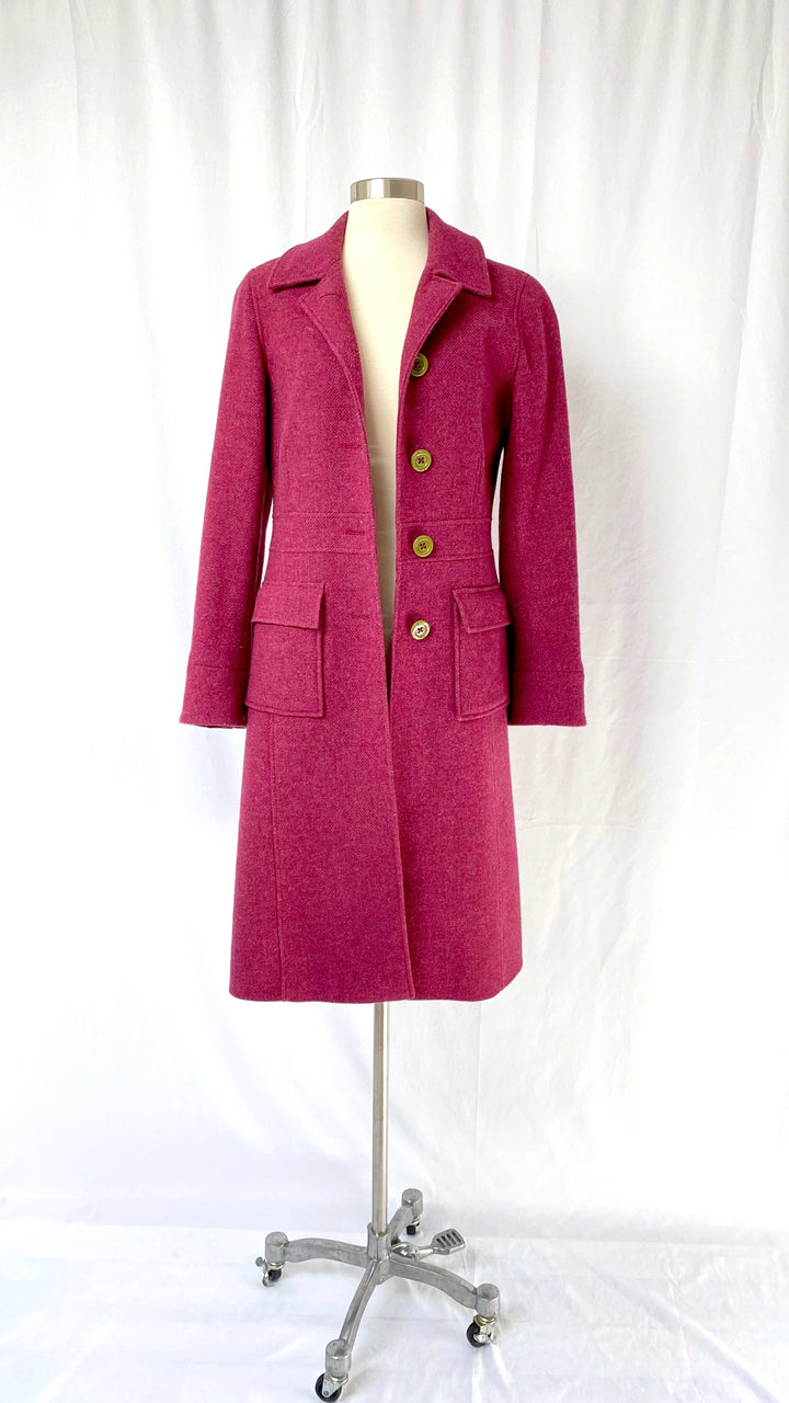 Boden Classic Winter Coat in Mulberry Purple