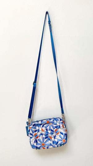 TUMI Blue & Orange Print Voyageur Troy Crossbody Purse