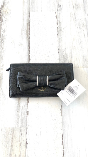 Kate Spade Black Bow Wallet Clutch