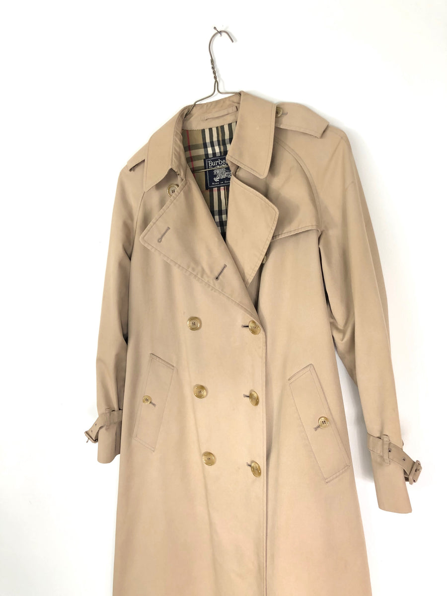 Burberry Vintage Womens Trench Coat