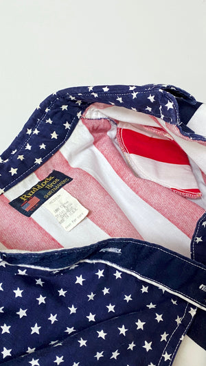 Vintage American Flag Women's Button Down