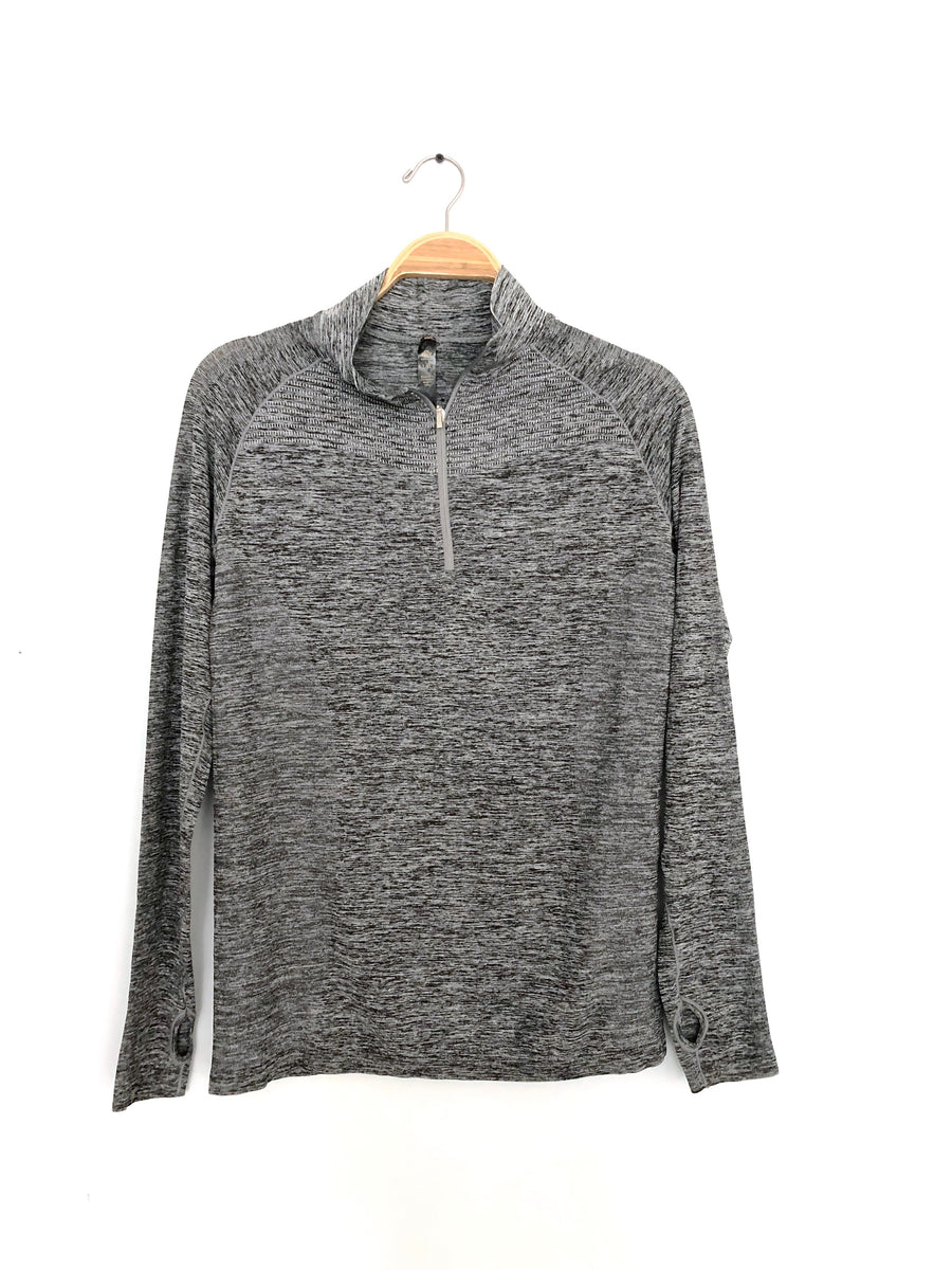 Marble Gray Athletic Runners Pullover