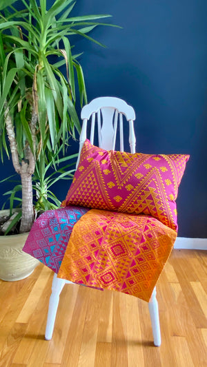 Handmade Kilim Embroidered Pillow Cover / 3 colors