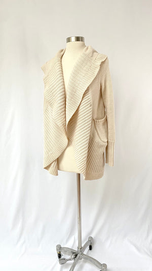 Haute Hippie Wool Hooded Sweater (S)