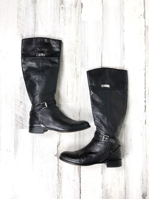 Coach Black Leather Riding Boots (9)