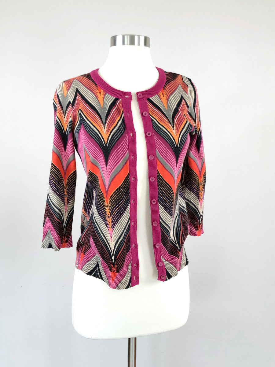 Anthropologie Summer Chevron Cardigan (XS)