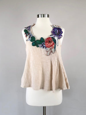Anthropologie Embroidered Top (M)