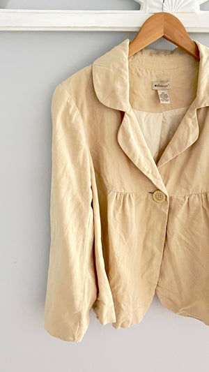 Anthropologie Linen Summer Blazer Jacket (12)