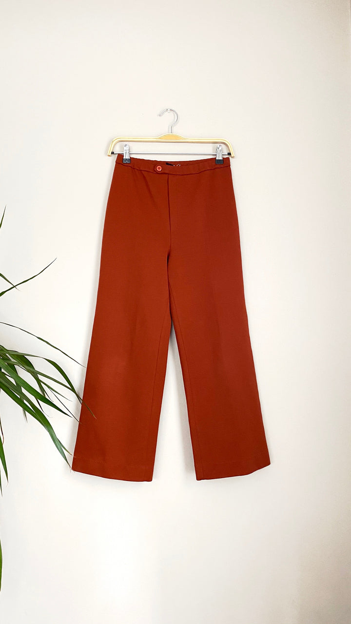 Vintage Rust Red Ankle Skim Pants (S)