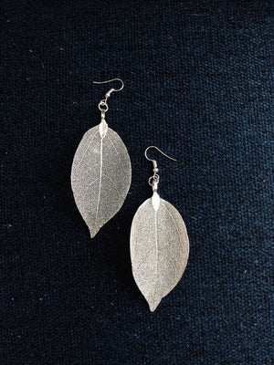 Mesh Leaf Drop Earrings