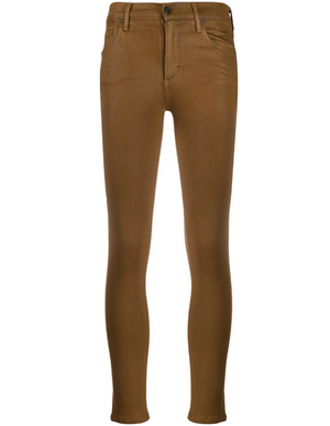 Citizens of Humanity Brown Wax Coated Rocket High Waist Skinnys (25)