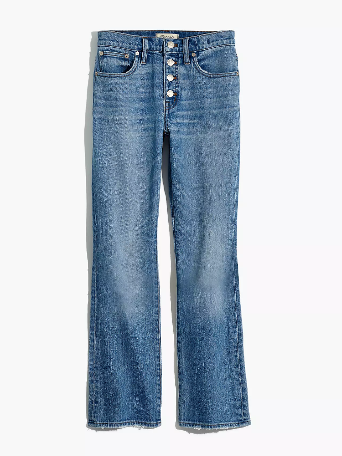 Madewell Cali Demi Boot Stretch Edition Jeans (Dory Wash) (28)