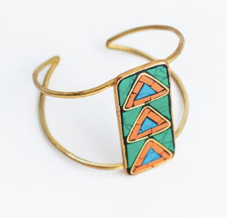 Mosaic Arrow Cuff