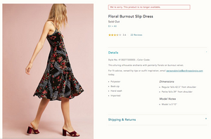 Anthropologie Velvet Floral Burnout Slip Dress (6)