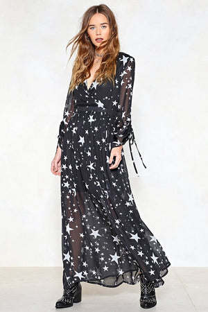 Nasty Gal 'Drops of Jupiter' Star Maxi Dress (4)