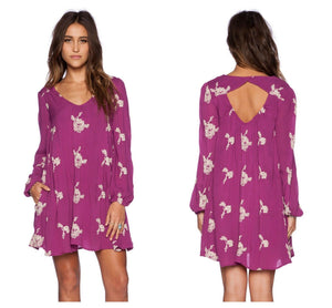 Free People Emma Embroidered Tunic Dress (L)