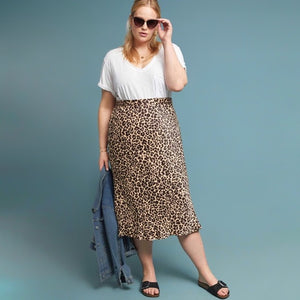 Anthropologie Bias Cut Leopard Skirt (12)