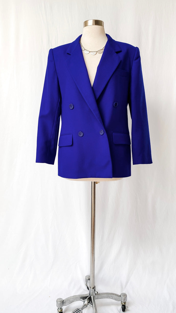 Vintage Christian Dior Blue Wool Blazer (MP)