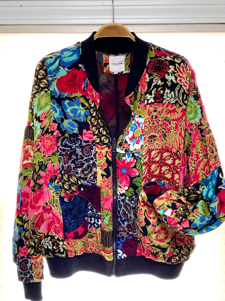 Urban Outfitters Floral Patchwork Bomber Jacket (S)
